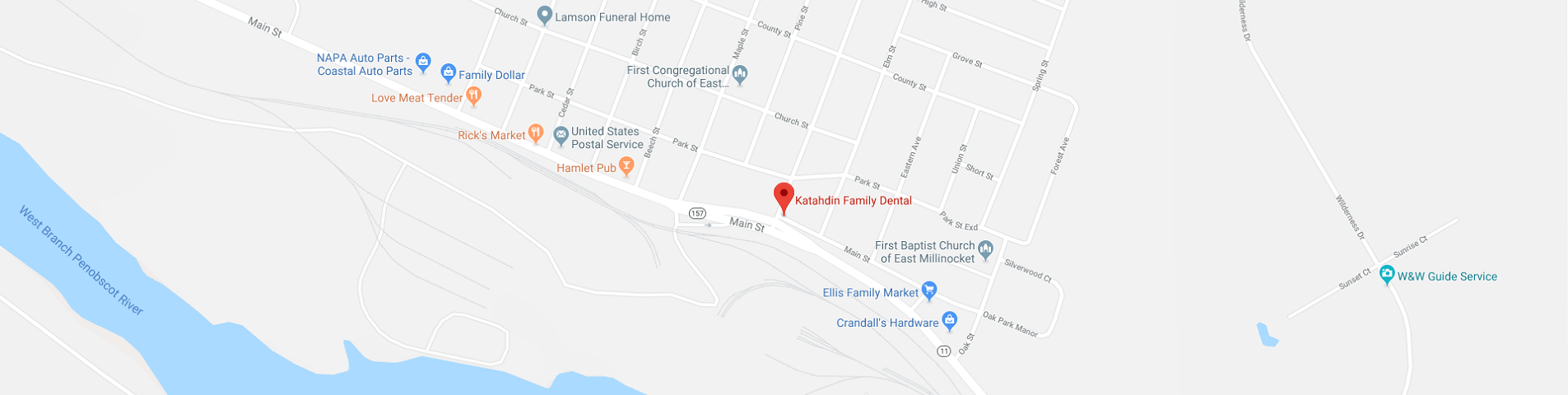 dental office's location on map